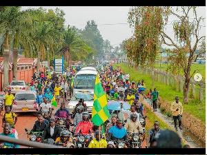 Msafara wa Kikosi cha Yanga baada ya Kuwasili Mkoani Kagera