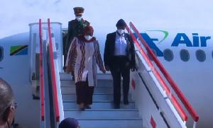 Tazama Rais Samia Suluhu Hassan alivyowasili nchini Malawi (Video+)