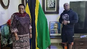 Harmonize Amtembelea Mama Janeth Magufuli