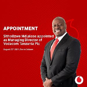Vodacom Tanzania imemteua Sitholizwe Mdlalose CEO mpya
