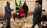 Rais Mwinyi akutana na Dr. Bashiru (+picha)