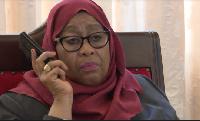 Tazama Rais Samia akiongea na simu na Rais wa AFDB (+video)