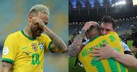 Neymar wa Brazil alia kufuatia kupigwa na Argentina, Leonel Messi amuonea huruma