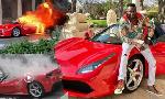 Taharuki yaibuka!! Ferrari ya Ginimbi yataka kuwaka moto wakati wakuaga Mwili wake