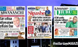 Habari kubwa za Magazeti ya Tanzania leo October 13, 2021