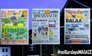 Habari kubwa za Magazeti ya Tanzania leo October 14, 2020