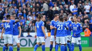 Wachezaji wa Leicester City wakishangilia moja ya magoli yao