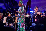 Angelique Kidjo performs at WOMAD in the United Kingdom in 2016.