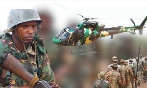 Mbinu za Kijeshi kumchanganya adui na helcopter kabla ya kutua (video+)