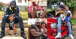 Picha za kutamanika za Rapa Khaligraph Jones na wanawe wawili