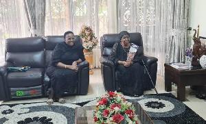 Mama Maria Nyerere amtelembelea Mama Janeth Magufuli (+picha)